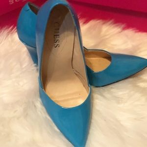 Guess Patent Leather Pointed Toe Heels